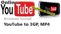 YouTube videóból 3GP, MP4, YouTube to mobil, YouTube kereső